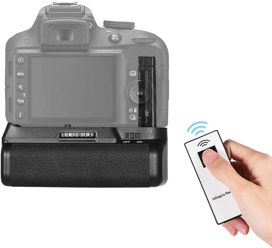 Andoer Vertical Battery Grip Holder for Nikon D5300 D3300 D3200 D3100 DSLR Camera EN-EL 14 Battery Powered with IR Remote Control