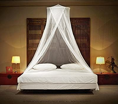 Luxury King Size Mosquito Net - for Home and Travel | Includes Hanging Kit and Travel Bag | No Harmful Chemicals | Fits All Beds Up To King Size.