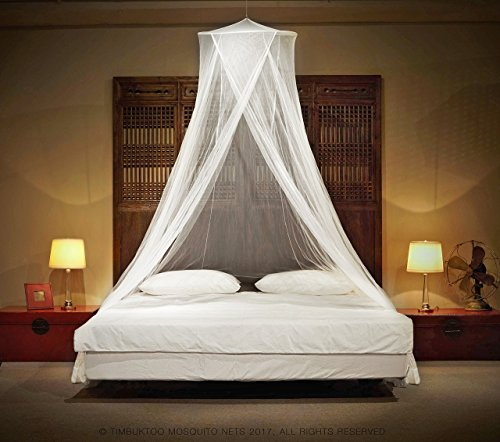 Timbuktoo Mosquito Nets   King Size Premium Mosquito Net Canopy For Home Or Travel  Includes Hanging Kit  Travel Bag  And No Harmful Chemicals  Fits All Beds Up To King Size