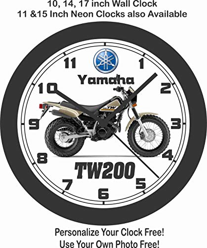 Jim's Classic Clocks 2018 Yamaha TW200 Motorcycle Wall Clock-Free USA Ship ()