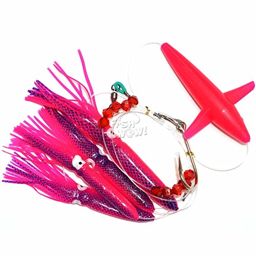 isy Bird Chain Squid Lure Rig Teaser Trolling - Pink (Daisy Bird Chain)
