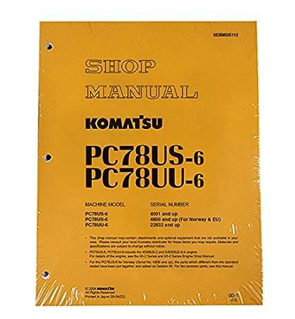 download komatsu pc78uu 6 pc78us 6 excavator manual