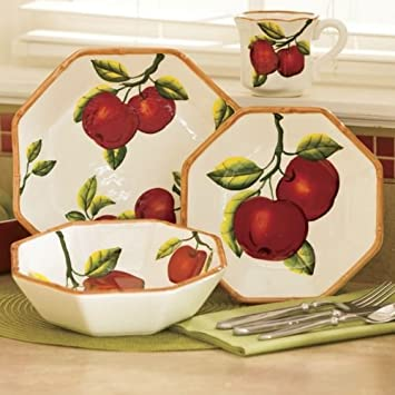 Tuscany Apple 16 Piece Dinnerware Set