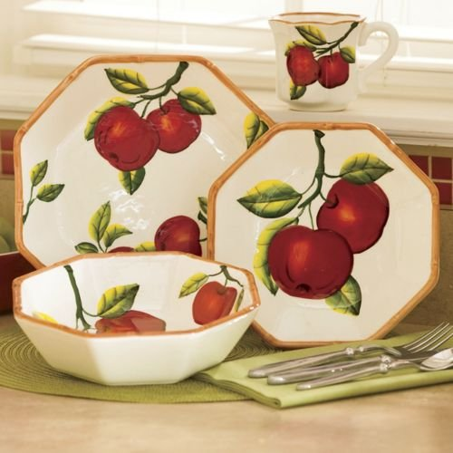 Tuscany Apple 16 Piece Dinnerware Set