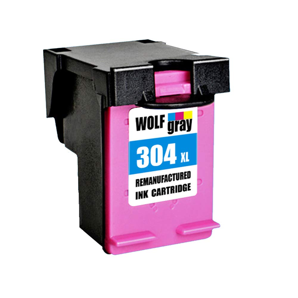 Wolfgray 304XL Remanufacturado para HP 304 XL 304 Cartuchos de tinta (1 Tricolor) para HP Deskjet 3720 3730 3732 3700 3735 3733 2620 2630 2632 2633 HP ...