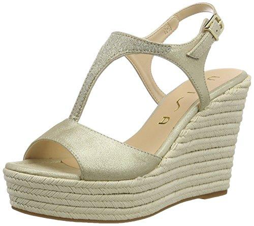 Unisa WoMen Mambas_MTS Wedge Heels Sandals, Beige Gold (Platino)