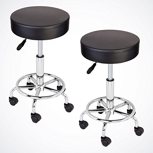 GotHobby 2 Black Adjustable Tattoo Salon Stool Hydraulic Rolling Chair Facial Massage Spa by GotHobby