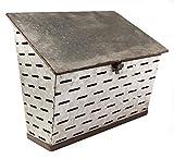 Galvanized Metal Antique Milk Delivery Box Post MailBox - Shabby Chic Décor