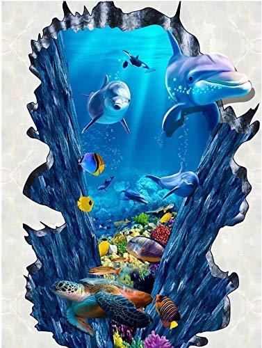 beibehang 3D Stereoscopic Illusion Paintings Wall Painted murals Graffiti Art 3D Diamond Waterfall Wallpaper Mural