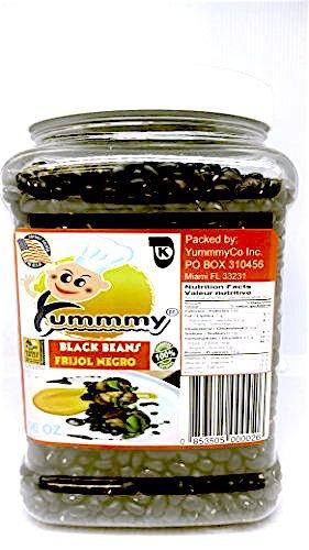 Black Beans, 56 oz Jar, 3.5 lbs, Kosher certified, whole grain, 100% Natural, gluten free, Frijol negro, Habichuelas, dry beans, kosher, high in fibers