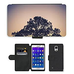 Super Stella Cell Phone Card Slot PU Leather Wallet Case // M00421596 Plant Tree Nature Environment // Samsung Galaxy Note 4 IV