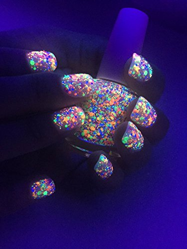 Amazon.com: FUNFETTI: Custom-Blended UV Blacklight Reactive NEON ...