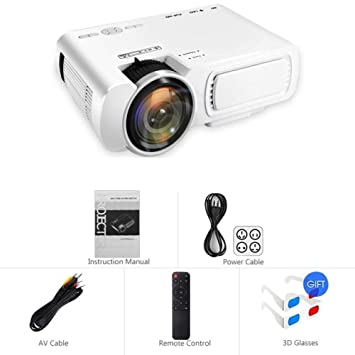 WXCZ Mini Proyector 720P Led De Cine En Casa , Blanco: Amazon ...