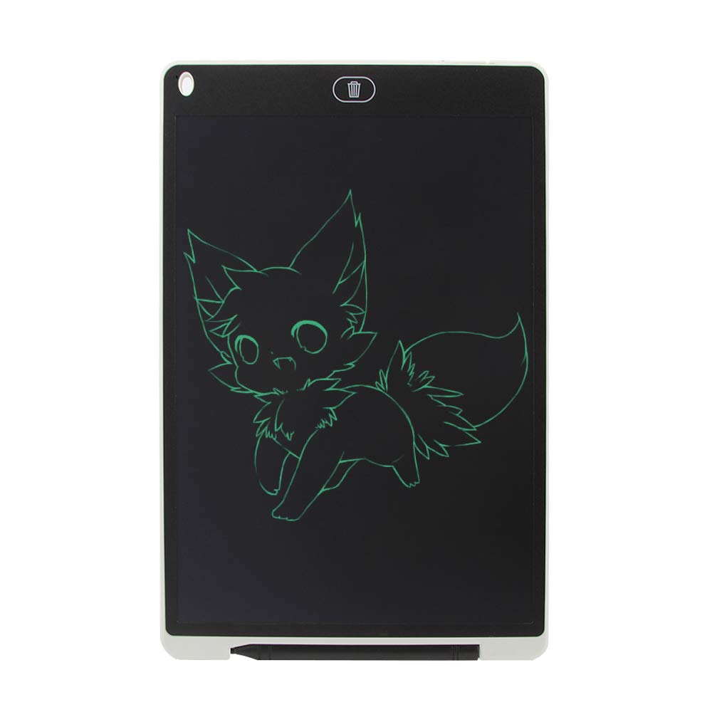 KINGWEI New 12 Inch LCD Writing Tablet +Neoprene Sleeve Case (White) by KINGWEI (Image #4)