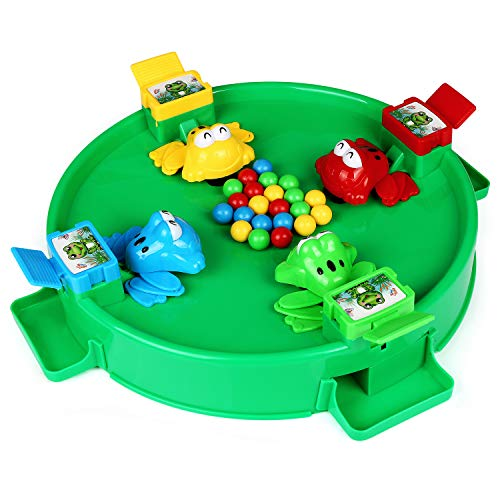 Hungry Frosgs, ZJTL Feeding Froggies Little Frog Eat Beans PK Desktop Games Small Toys Parent-Child Interaction Toys-Best Gift