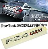 hyundai sonata rear emblem - Rear Trunk F24 GDi Logo Emblem For 2011 Hyundai Sonata YF