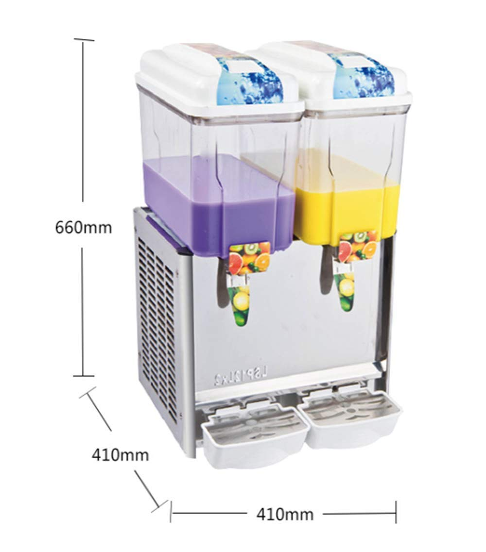 CGOLDENWALL Commercial Beverage Machine Automatic Juice Dispenser Stainless Steel Beverage Machine Cold&Hot Drink Machine Cold Beverage Machine Beer Machine 12L Single/Double/Three Tanks (Two Tanks, Single Cold) by CGOLDENWALL (Image #3)