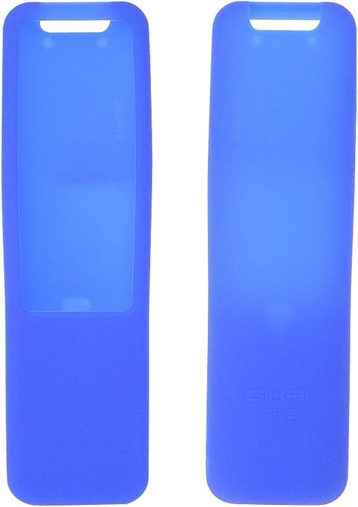zrshygs - Funda de Silicona para Mando a Distancia Hisense Smart TV, Color Negro, Silicona, Azul, 15×4.5cm/5.9×1.77in: Amazon.es: Hogar