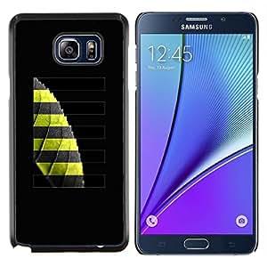 EJOOY---Cubierta de la caja de protección para la piel dura ** Samsung Galaxy Note 5 5th N9200 ** --Greeon Leaf