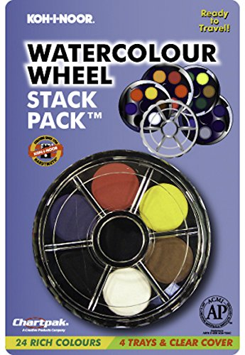 Koh I Noor Watercolor Wheel Stack Pack Set Of 24 Amazon In