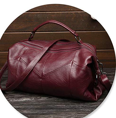 Sac Unique Multicouche Main Messenger Sac Sxuefang épaule Couture Fille B à Sac Peau Véritable PU x4X7Hq