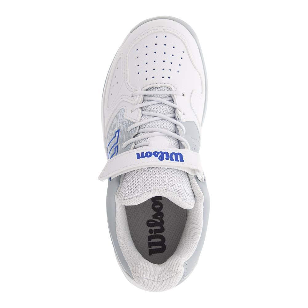1.5 White//Pearl Blue//Dazzling Blue Wilson KAOS K Tennis Shoes