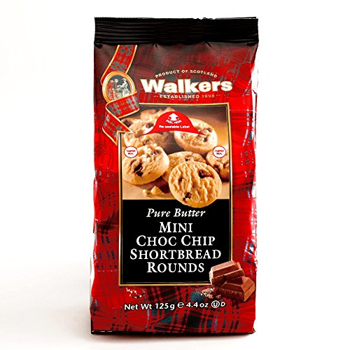 (Walkers Mini Chocolate Chip Shortbread Rounds 4.4 oz each (2 Items Per Order))