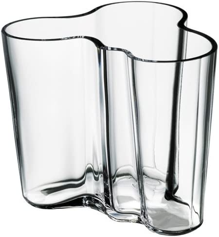 Iittala Alvar Aalto Collection Vase 3.75 , Clear