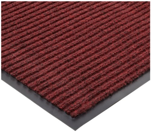 """Durable Corporation Spectra-Rib Entrance Mat, for Indoor and Vestibule Areas, 48"""" Width x 96"""" Length x 3/8"""" Thickness, Red"""