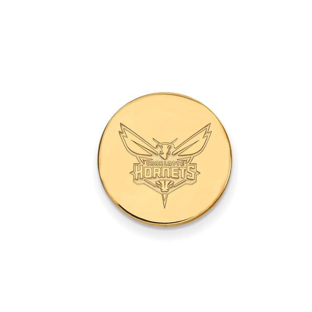 NBA Charlotte Hornets Lapel Pin in 14K Yellow Gold