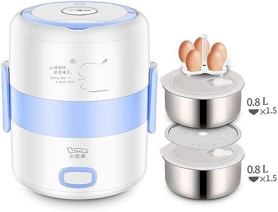 GQ Robot De Cocina, MultifuncióN Olla Arrocera PortáTil, Caja De CalefaccióN De Acero Inoxidable(1.6L), Mini arrocera, Azul: Amazon.es