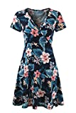 Epinmammy Women's Maternity Summer Flower Breastfeeding Short Sleeve Nursing Dresses