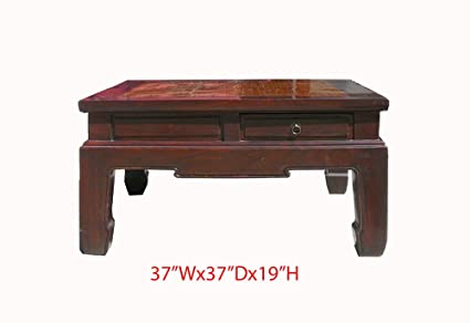 Amazoncom Chinese Square Bamboo Top Four Drawers Access Coffee
