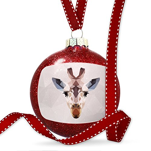 Christmas Decoration Low Poly zoo Animals Giraffe Ornament by NEONBLOND