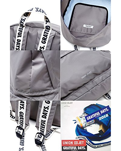 KPOP EXO K Fashion Schule Rucksack bookbag-unionobjet capsule169 grau 2ZRDPPlksl