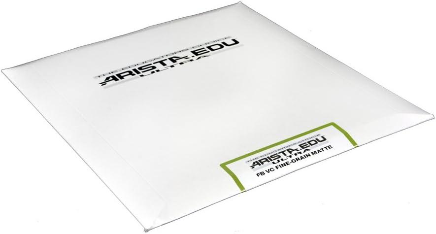 100 Sheets Fine Grain Semi-Matte 8x10 Arista EDU Ultra FB VC Black /& White Photographic Paper