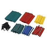 SODIAL(R) 140 PCS Colorful Assorted Heat Shrink Tube 7 Sizes Tubing Wrap Sleeve Set Combo Multicolor