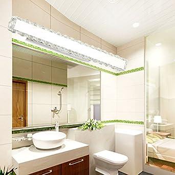 Espejo lámparas Lámpara lisafeng_led minimalista moderno dormitorios baños de cristal de espejo de acero inoxidable resistente al agua anti-Luces antiniebla ...
