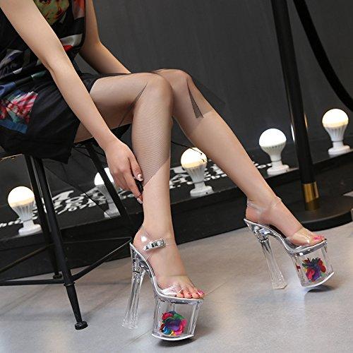 tacon cristal super T modelo Zapatos plataforma alto de de 18 princesa zapatos cm Zapatos de boda de de XiaoGao Night pista Modelo tacon Club alto xqPaSOT