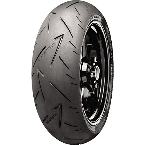 Continental Conti Sport Attack 2 Tire - Rear - 150/60ZR-17 , Position: Rear, Tire Size: 150/60-17, Rim Size: 17, Load Rating: 66, Speed Rating: (W), Tire Type: Street, Tire Construction: Radial, Tire Application: Race 02440080000