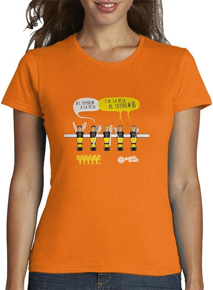 latostadora - Camiseta de la Mesa Al Futboln para Mujer: SoccerTable: Amazon.es: Ropa y accesorios