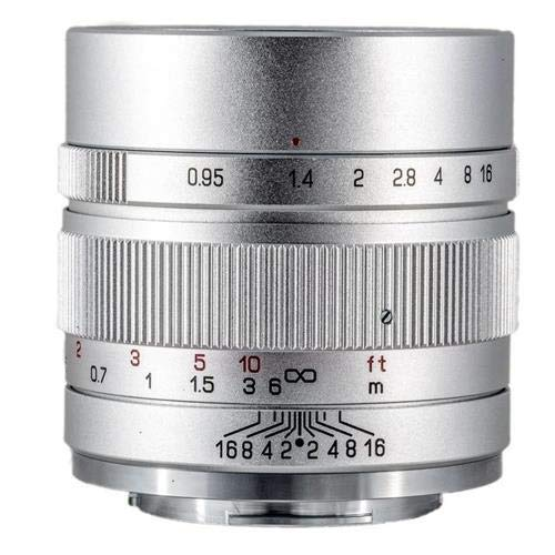 Mitakon Zhongyi Speedmaster 35mm f/0.95 Mark II Lens for Fuji X Mirrorless Cameras - Silver
