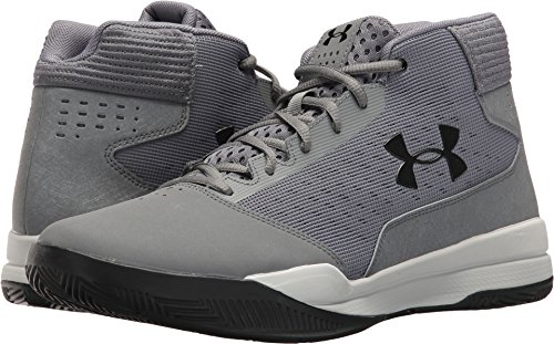Under Armour Men's Jet Mid Basketball Shoe, (100)/Zinc Gray, 9.5 (Basketball One Shoes)