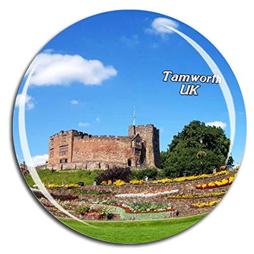 (Weekino UK England Tamworth Castle Fridge Magnet 3D Crystal Glass Tourist City Travel Souvenir Collection Gift Strong Refrigerator Sticker)
