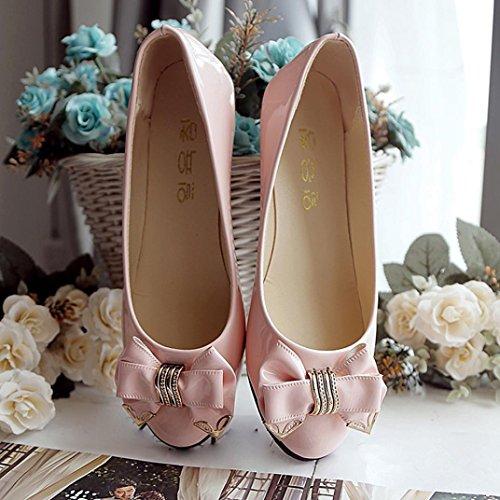 Herbst Flache Frauen Mode Schuhe Upxiang Frauen Flache Schuhe Freizeit Ferse Fliege Rosa Schuhe Frühling Abendkleid Zehe Schuhe q7f7v0