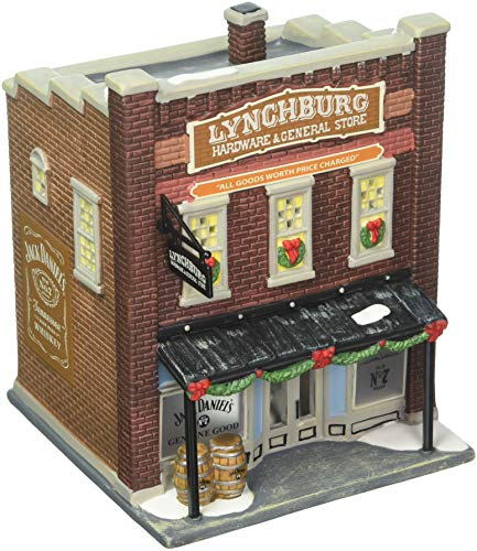 (Department 56 Jack Daniels Village Lynchburg Hardware and General Store Lit Building)