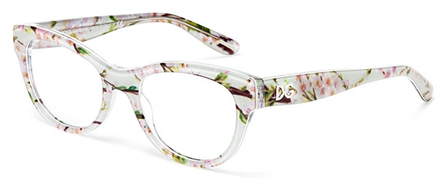ad24ca2936 New Eyeglasses Dolce Gabbana DG 3203 2843 Women Floral almond flowers   Amazon.co.uk  Clothing