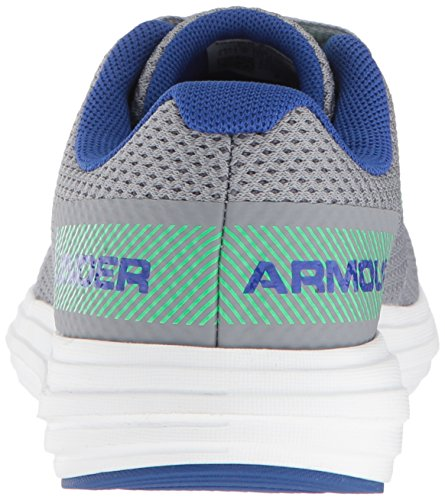 Under Armour Boys' Grade School Surge RN Sneaker, Steel (102)/White 4.5 by Under Armour (Image #2)