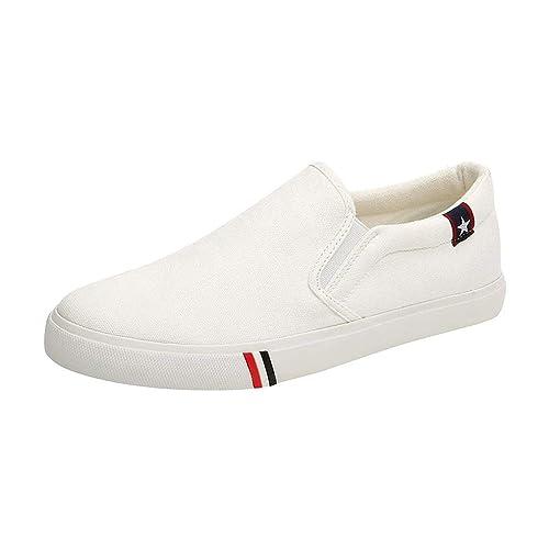 Hombres Mujeres Zapatillas Slip-on de Color Liso Clásicas Zapatos de Lona Mocasines Zapatillas Zapatos Deportivos Ocasionales: Amazon.es: Zapatos y ...