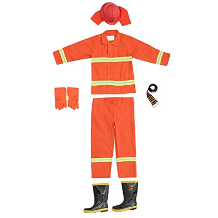 SM SunniMix Traje de Fuego para Incendios Trajes Bomberos ...